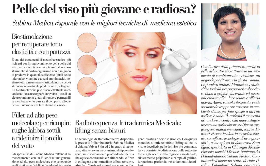 Pelle del viso più giovane e radiosa? Sabina Medica risponde con le migliori tecniche di medicina estetica
